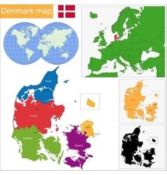 Denmark map vector image vector image
