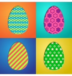Easter eggs backgrounds vector image vector image