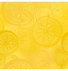 Lemon citrus fruit Wallpaper seamless pattern vector image vector image