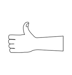 like gesture hand showing thumbs up vector image vector image