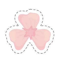 Lily flower decoration color cut line vector