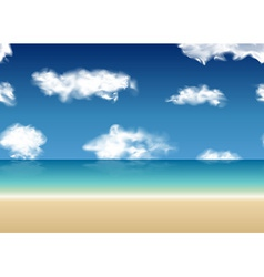 Summer view seamless sea background vector image vector image