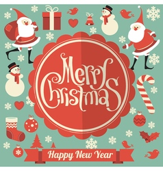 Christmas and New Year template vector image vector image
