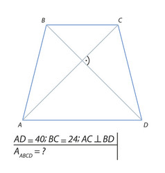 finding the area of a trapezoid abcd-01 vector image vector image