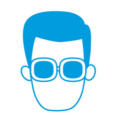 man with glasses vector image vector image