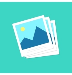 Photo frames icon photoframe isolated on vector image