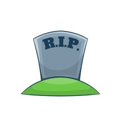 Rip on grave icon cartoon style vector