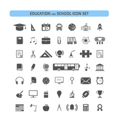 school and education icon set vector image