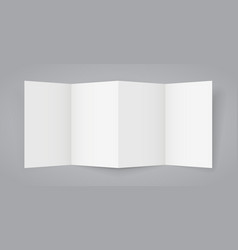 tri fold broshure vector image