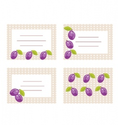 fruit card vector image