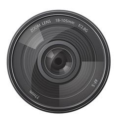 lens photo camera vector image vector image