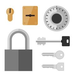 locks and keys flat icon vector image