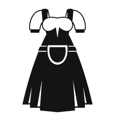 Traditional Bavarian dress icon simple style vector image vector image