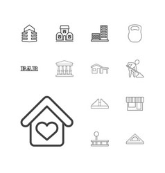 13 building icons vector