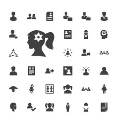 33 profile icons vector