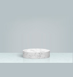 3d minimal scene with marble stone podium vector