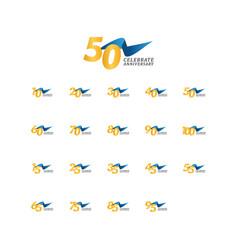 50 years anniversary celebration elegant ribbon vector