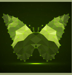 Abstract butterfly colorful triangles glowing vector