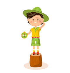 American boy scout vector