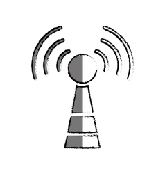 Antenna communication technology vector