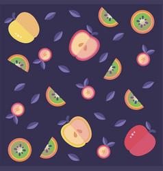Apple kiwi pattern vector