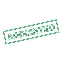 Appointed sticker stamp vector