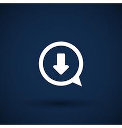 Arrow down bottom sign pictogram symbol icon vector
