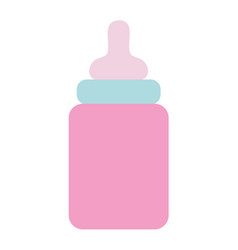 Baby feeding bottle to drink vector