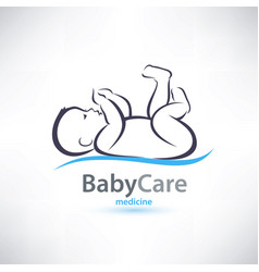 Baby stylized symbol skin care concept vector