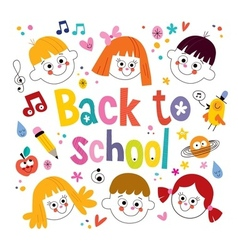 Back to school kids vector