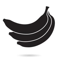 banana bunch black icon vector image