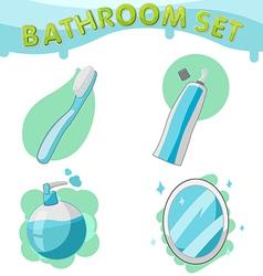 Bathroom Symbol icon set A vector image