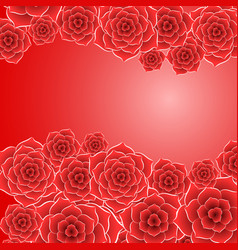 beautiful red rose flower background vector image