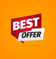 best offer a paper pointer bonus web banner on vector image