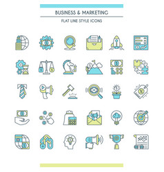 business and marketing icons vector image