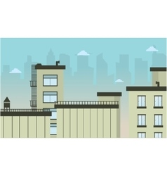 City flat landscape vector