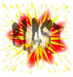 Comic blast vector