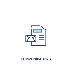 Communications concept 2 colored icon simple line vector