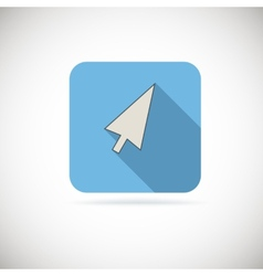 Computer arrow flat icon vector