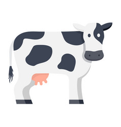 cow isolated on white background vector image