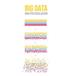 Creative of big data analysis vector
