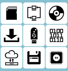 Data Icons Set vector image