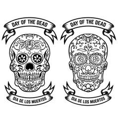 day dead dia de los muertos set the vector image