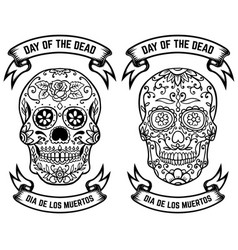 Day of the dead dia de los muertos set of the vector