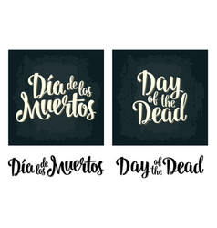 Day of the dead vintage white lettering on vector