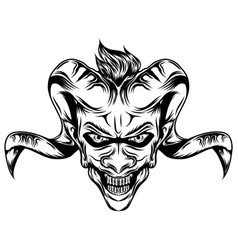 Demons with goat horns vector