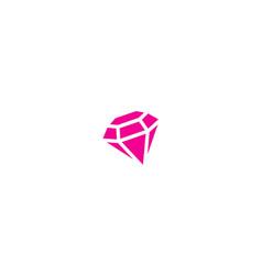 Diamond jewelry fashion beauty logo vector