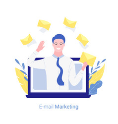 e-mail marketing internet advertisement concept vector image