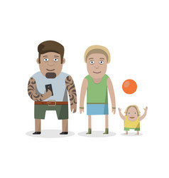 flat design style of isolated characters on white vector image