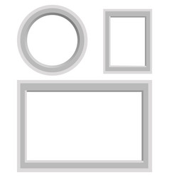 frames set of round rectangular and square shape vector image
